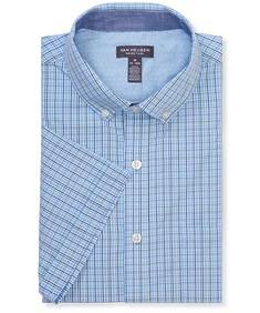 Never Tuck Slim Fit Short Sleeve Shirt Tattersall Plaid