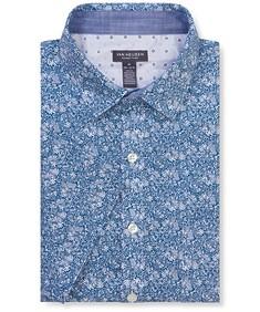 Never Tuck Slim Fit Short Sleeve Navy Floral
