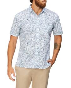 Never Tuck Slim Fit Short Sleeve Shirt Shark Print