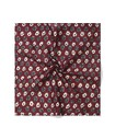 Pocket Square Oxblood with Flowers
