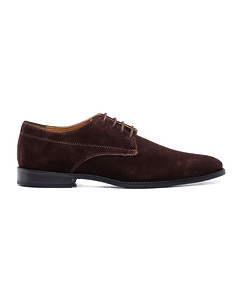 Shoe Derby Suede Dark Chocolate