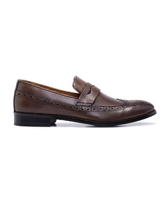 Slip On Brogue Dark Chocolate