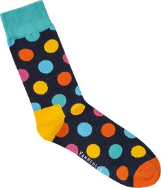 Mens Socks Multi Colour Polka Dot