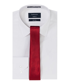 Mens Gift Pack White Shirt with Red Tie