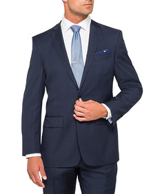 Classic Relaxed Fit Suit Jacket Navy