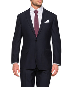 Classic Relaxed Fit Suit Jacket Dark Navy