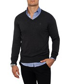 Mens Casual Knitwear V-Neck Pullover