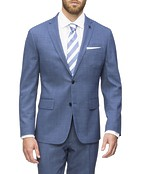 Euro Tailored Commuter Suit Jacket Blue