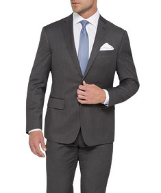Euro Tailored Fit Suit Jacket Birdseye