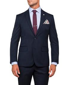 Euro Tailored Suit Jacket Navy