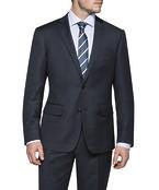 Black Label Euro Fit Suit Jacket Charcoal with Blue Dot