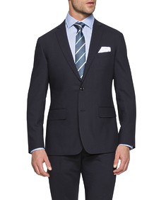 Euro Tailored Fit Suit Jacket Navy Dark