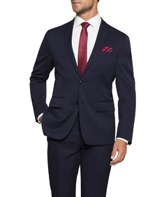 Euro Tailored Fit Commuter Suit Jacket Ink