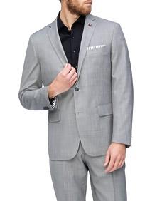 Euro Tailored Suit Jacket Light Grey