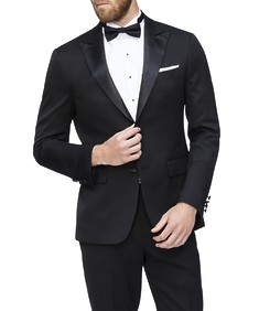 Slim Fit Dinner Suit Jacket Black