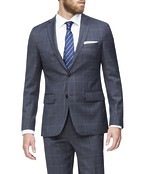 Slim Fit Suit Jacket Charcoal Prince of Wales Check