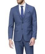 Slim Fit Suit Jacket Light Navy Self Stripe