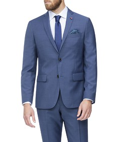 Slim Fit Suit Jacket Light Navy Self Stripe