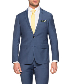 Slim Fit Suit Jacket Navy Fine Stripe