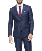 Slim Fit Suit Jacket Navy with Ox Check