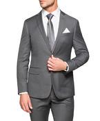 Black Label Slim Fit Suit Jacket Grey Pin Stripe