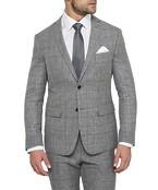 Black Label Slim Fit Suit Jacket Grey Linen