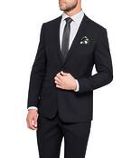 Slim Fit Suit Jacket Black