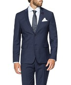 Slim Fit Suit Jacket Ink Vertical Stripe