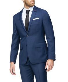 Slim Fit Suit Jacket Ink Check