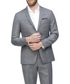 Slim Fit Suit Jacket Grey Birdseye