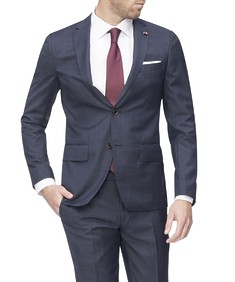 Super Slim Fit Suit Jacket Navy Ox Check