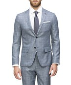 Super Slim Fit Suit Jacket Sky Prince of Wales Check