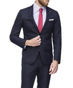 Super Slim Fit Suit Jacket Navy Textured