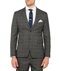 Black Label Super Slim Suit Jacket Check