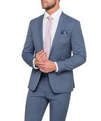 Super Slim Fit Suit Jacket Blue Fine Stripe