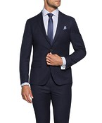 Super Slim Fit Suit Jacket Ink Shadow Check