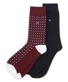 Socks 2pk Maroon