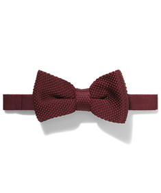 Knitted Tie Burgundy
