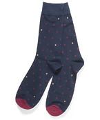 Socks Pair Navy Spots