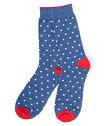 Socks Pair Indigo Dots