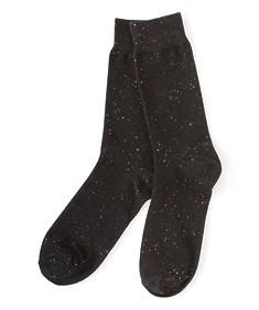 Socks Pair Black Paint Splash
