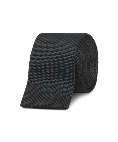 Neck Tie Knitted Black