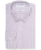 Classic Relaxed Fit Shirt Grape Vertical Stripe