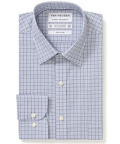 Classic Relaxed Fit Shirt Vapor Blue Check