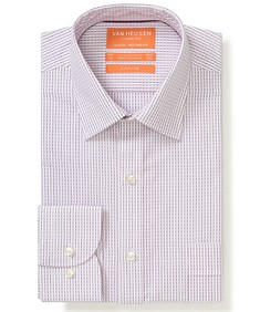 Classic Relaxed Fit Shirt Dusty Pink Pin Stripe