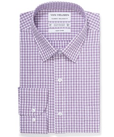 Classic Relaxed Fit Shirt Mulberry Print Checks