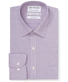 Classic Relaxed Fit Shirt Pink Line Check