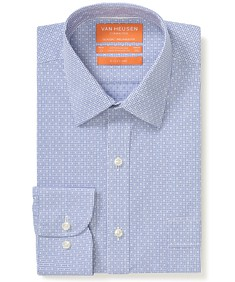 Classic Relaxed Fit Shirt Navy Raised Cross Print