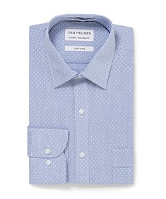 Classic Relaxed Fit Shirt Blue Dobby Cross Check