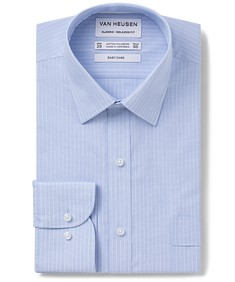 Classic Relaxed Fit  Shirt Blue Surf Vertical Stripe